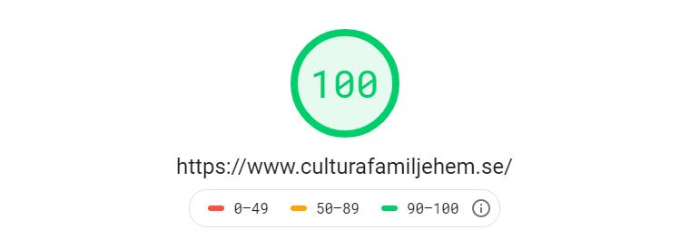 Cultura Familjehem AB - Hastighet
