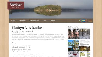 Ekobyn Nils Dacke AB på datorskärm
